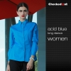 women acid blue shirt