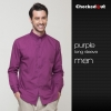 men purple shirtfashion restaurants coffee bar waiter waitress shirt workswear