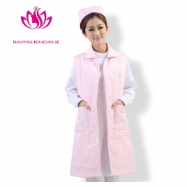 high quality fashion thicken sleeveless nurse cotton padded coat uniform