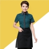 color 3stripes collar hem waiter man uniforms shirt apron
