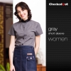 waitress dark grey shirt