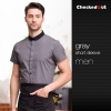 waiter dark grey shirt