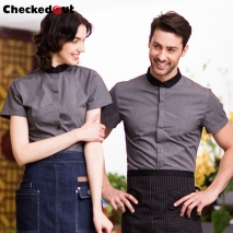 fashion waitress  shirts restaurant waiter dealer uniforms