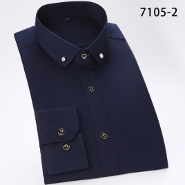 fashion upgrade blue business men shirt