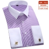 hot sale slim stripes print men shirt office uniform