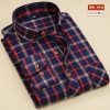 color 3casual fashion checkered men shirt