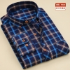 color 7casual fashion sqaure print men shirt