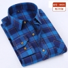 color 8casual fashion checkered men shirt