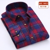 color 12casual fashion checkered men shirt