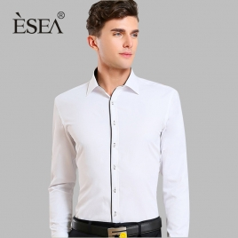 fashion Europe design slim fit men shirt for men