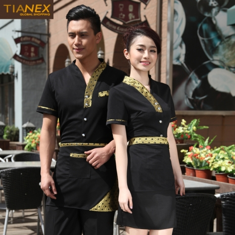 Japanese style short sleeve summer waiter uniform