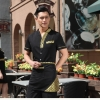 color 6Japanese style short sleeve summer waiter uniform