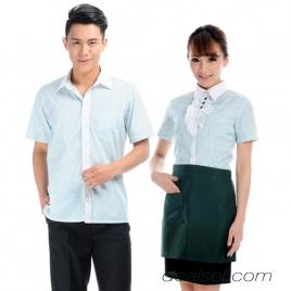 high quality bow collar waitress shirt uniform