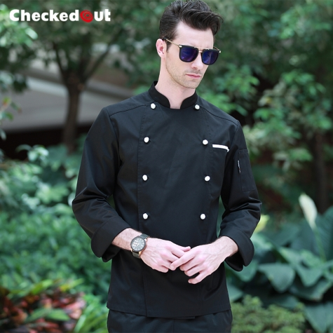 new Europe style clothing buttons chef coat chef jacket