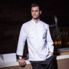 white chef jacketEurope style  handsome men chef coat chef jacket