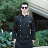 black chef jacketEurope style  handsome men chef coat chef jacket