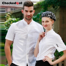 summer single breasted chef coat jacket restaurant chef jacket