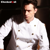 golden button chef master jacket chef uniform coat