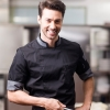 unisex black chef coat