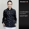 women cookware  printingspecial cookware print baker coat chef jacket restuarant uniform