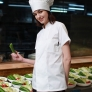 summer short sleeve cotton blends unisex design chef coat jacket uniform