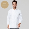 long sleeve men white jacketChinese style collar double breasted restaurant kitchen cook uniform coat