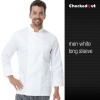 long sleeve white men designEurope style kitchen chef long sleeve uniforms fall design