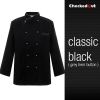 black grey hem button coatautumn new design unisex double breasted good quality chef jacket coat