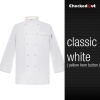white yellow hemautumn new design unisex double breasted good quality chef jacket coat