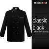 black golden hem button coatautumn new design unisex double breasted good quality chef jacket coat