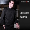 upgraded black coatautumn new design unisex double breasted good quality chef jacket coat