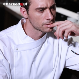 Europe Design fashion side Closure upgraded chef coat chef jacket