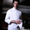 white coatEurope Design fashion side Closure upgraded chef coat chef jacket