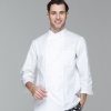 men chef coat whitesimple basic design double breasted chef jacket uniform workswear