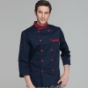 men chef coat navysimple basic design double breasted chef jacket uniform workswear