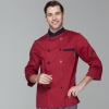 men chef coat winesimple basic design double breasted chef jacket uniform workswear