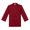 unisex wine chef coatcasual classic double breasted long sleeve chef blouse uniform