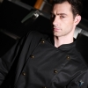 black chef blousefashion golden button chef manager jacket chef uniform coat