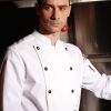 white chef blousefashion golden button chef manager jacket chef uniform coat