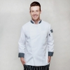 white chef coatlong sleeve comfortable fabric chef tops blouse