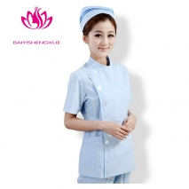 fashion side-buttoned short sleeve summer nurse coat uniform (1 x jacket + 1 x pant )