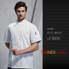 unisex white coatGermany design restaurant cake shop baker jacket chef coat uniform