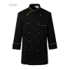 unisex black(golden hem) coatGermany design restaurant cake shop baker jacket chef coat uniform
