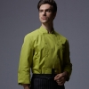 long sleeve greenprofessional double breasted chef jacket blazer uniform