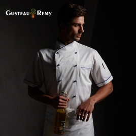summer sideway collar chef jacket chef uniform