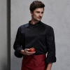 unisex black coatfashion invisible button chef uniform coat bread shop uniform