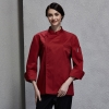 unisex winefashion invisible button chef uniform coat bread shop uniform