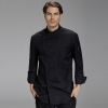 unisex black coatfashion invisible button side opening chef manager jacket chef uniform