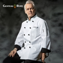 contrast cuff fashion chef uniform jacket coat