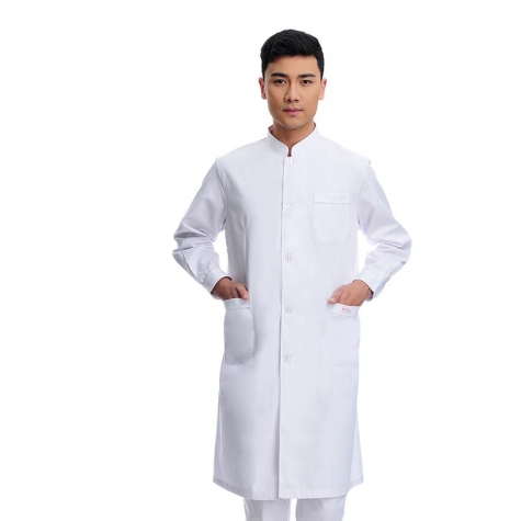 2015 long sleeve officer collar dentist doctor uniform men coat